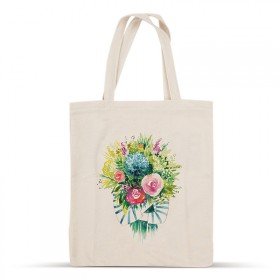 Sac en coton bouquet