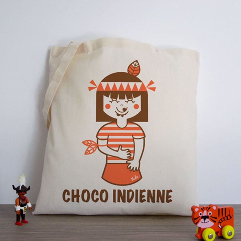 Tote-Bag «Choco-Indienne» by Atelier VUDO