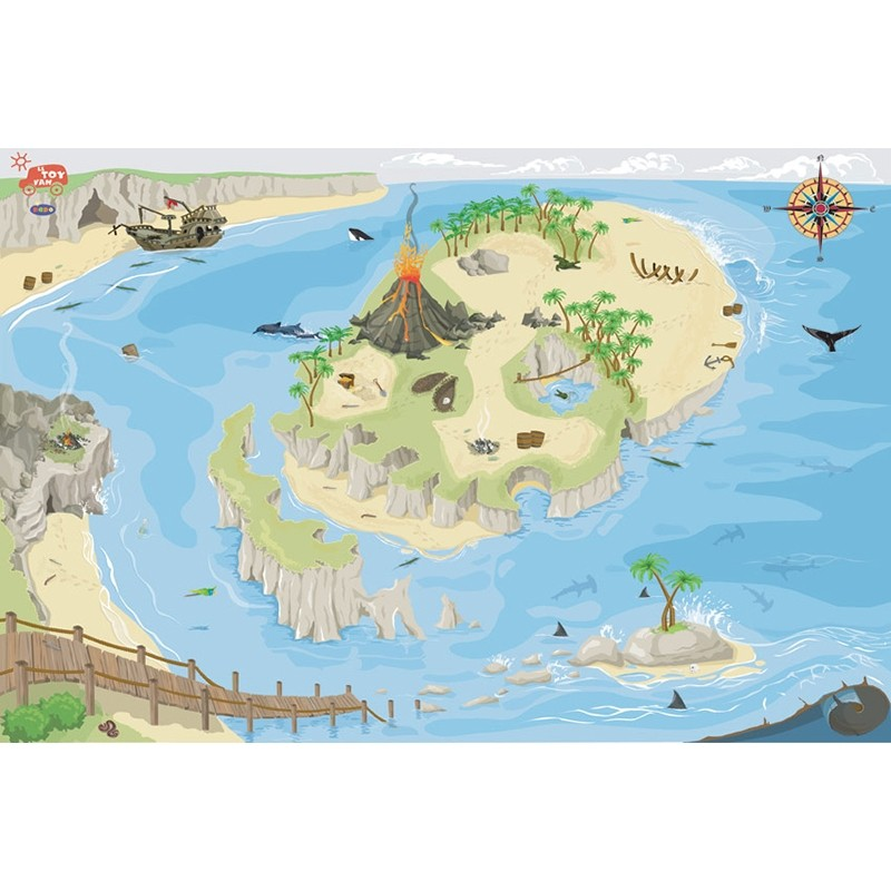 Tapis Pirates 80 x 120cm by Le toy van