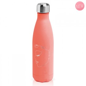 "Bouteille isotherme ""Femme rose"" gourde"