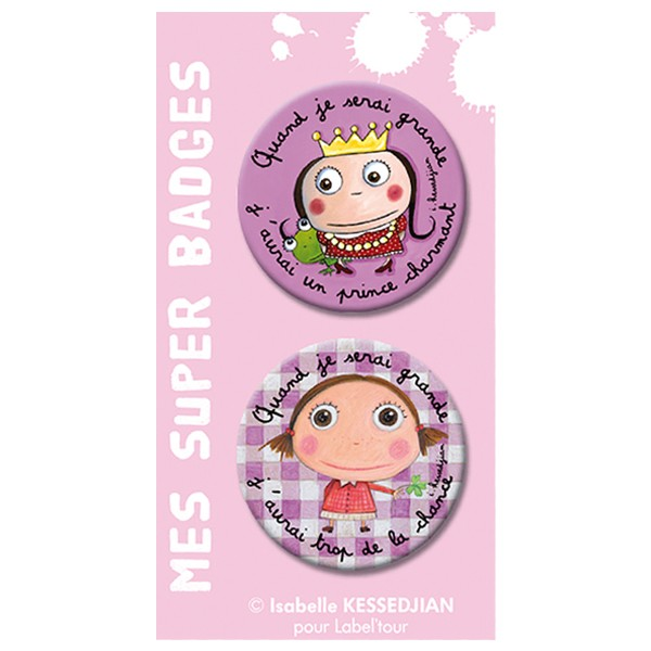 Badges Prince charmant by Isabelle Kessedjian