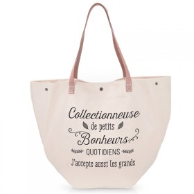 Grand sac de plage Collectionneuse de petits bonheurs quotidiens sac shopping