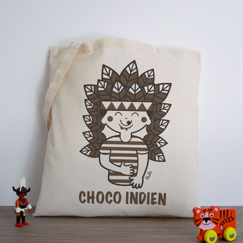 Tote-Bag «Choco-Indien» by Atelier VUDO
